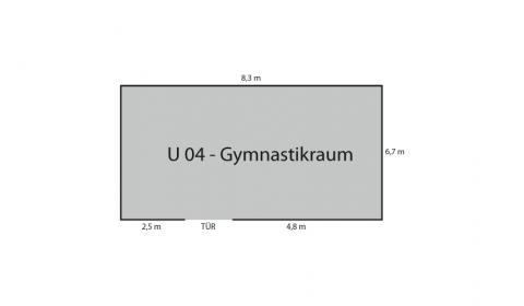 Grundriss Gymnastikraum