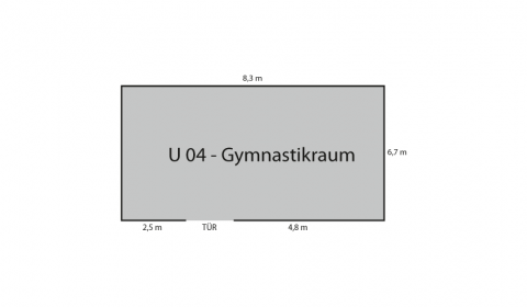 Ground plan Gymnastics Room
