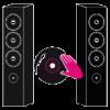 Mikserli, DVD oynatıcılı ve 4 hoparlörlü PA sistemi